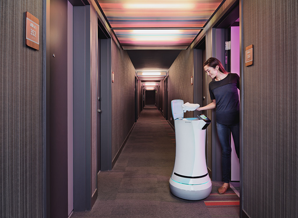 Savione a robot butler being tested in California, to steal human jobs