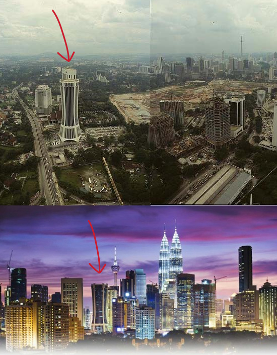 1990s vs. 2010s Kuala Lumpur Source: Via http://travelisfree.com/2015/03/08/city-skylines-change-then-now/