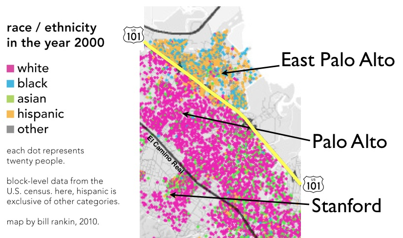 Silicon Valley's Racial Divide: Palo Alto vs. East Palo Alto (Source)